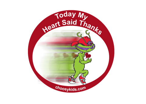 Today My Heart Said Thanks Sticker (Pack of 20)