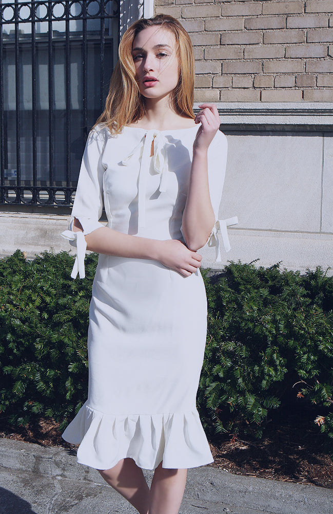 White Andalusia Dress