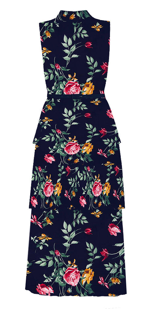 Agnyth High Neck Floral Dress