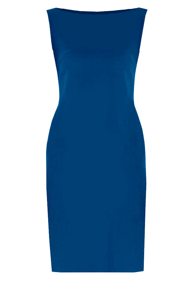 Blue Basic Sheath Dress - Aspen