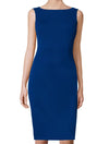 Sheath Dress Blue Aspen