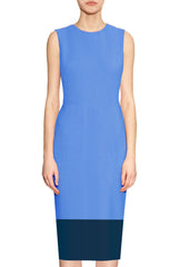 Aura Two Toned Sheath Dress - Blue