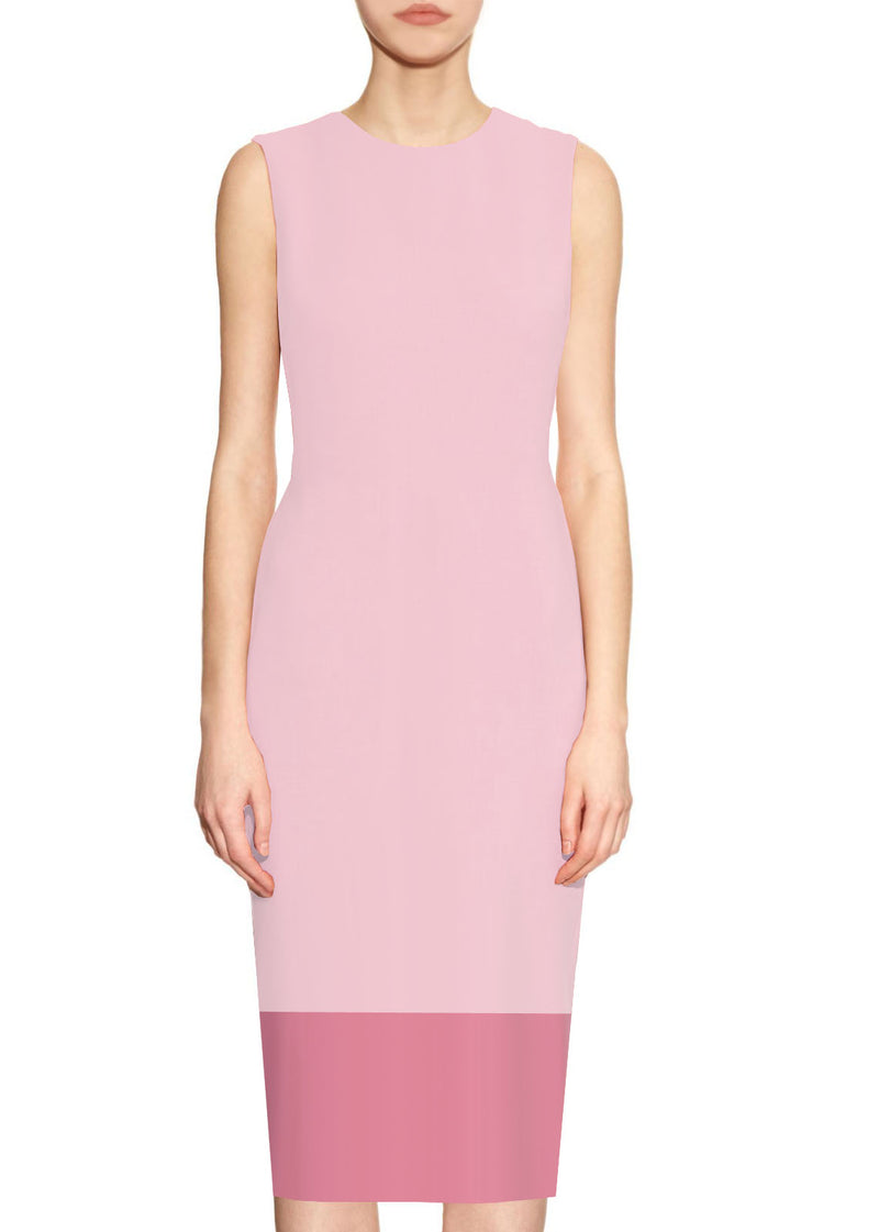 Two-tone sheath dress - Aura