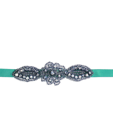 Yulia Crystals Sash - Something Blue