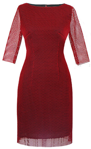 Malena Red Net Dress