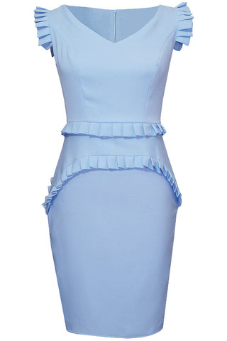 Nestine Dress - Light Blue