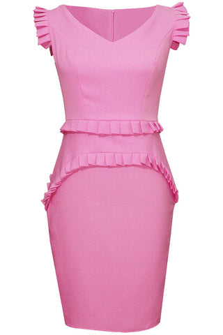 Everett Pink V Neck Dress