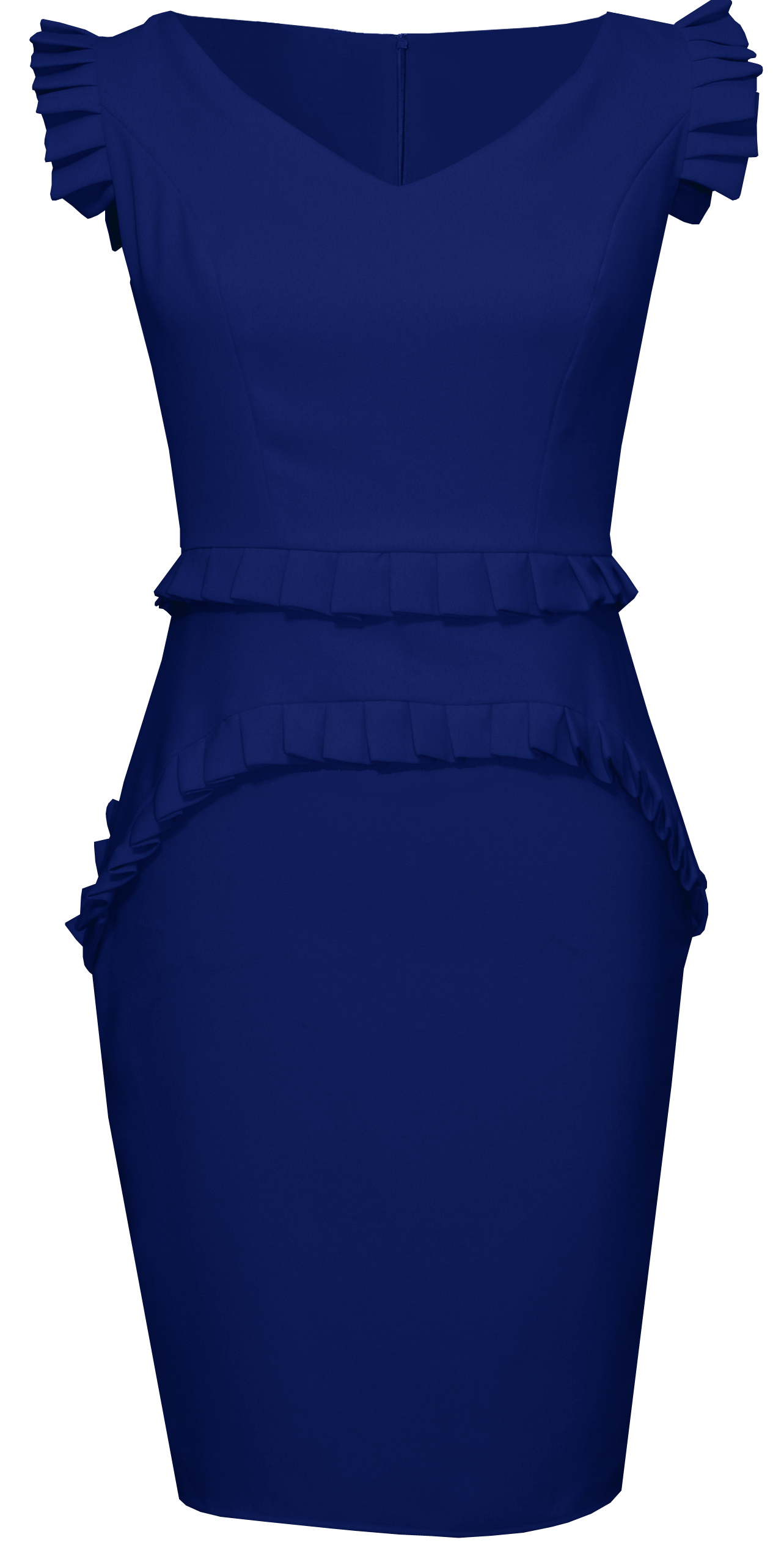 Everett Navy Blue V Neck Dress