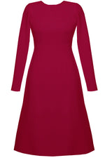 Plus Size A-line Dress in Raspberry -Grace