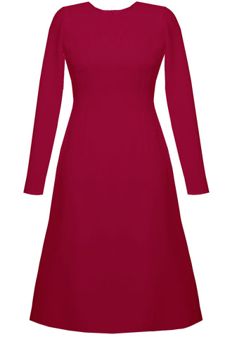 Raspberry Modest Dress - Grace