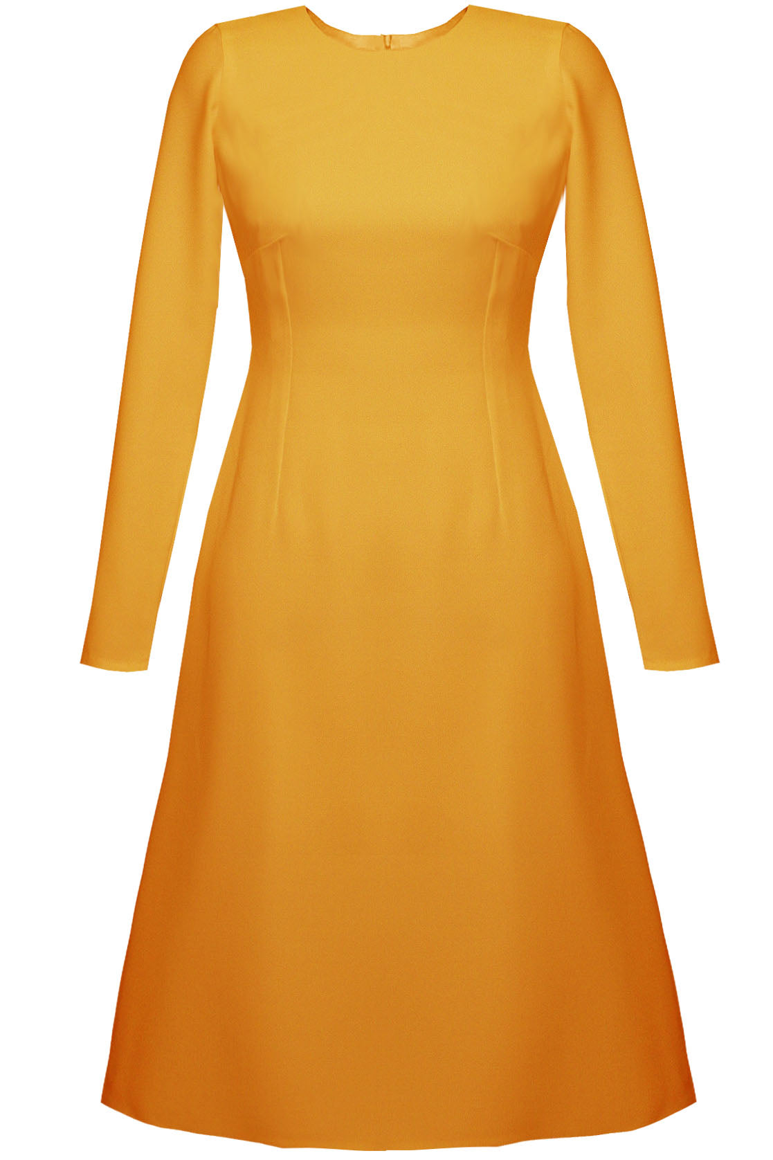 Grace Basic A-line Dress - Marigold