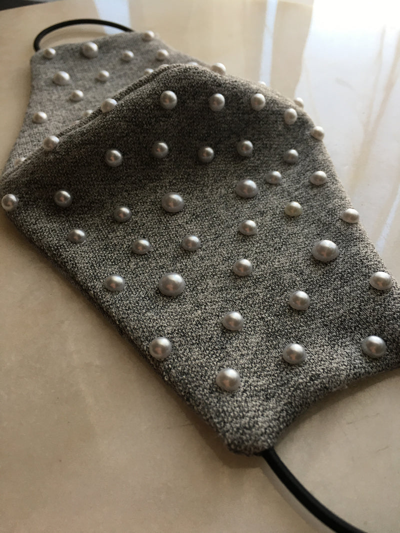 Averoy Cotton Face Mask Emebellished with Pearls