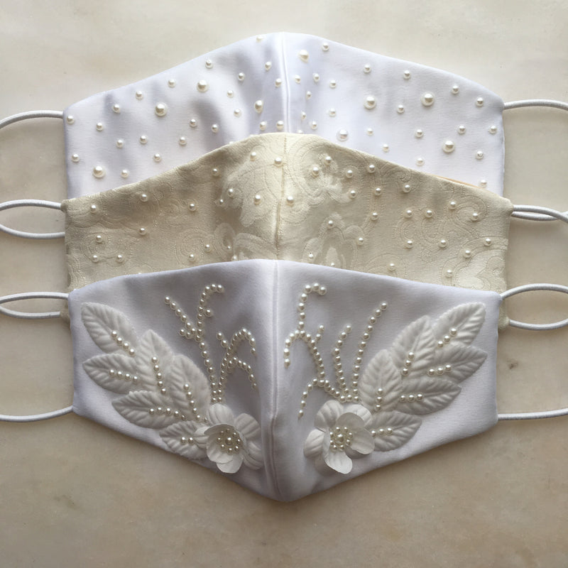 Corinth Jacquard Bridal Face Mask