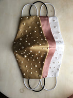 Skenna Gold Face Mask Pearl Embellished