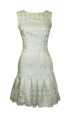 Noella Ivory Damask Dress