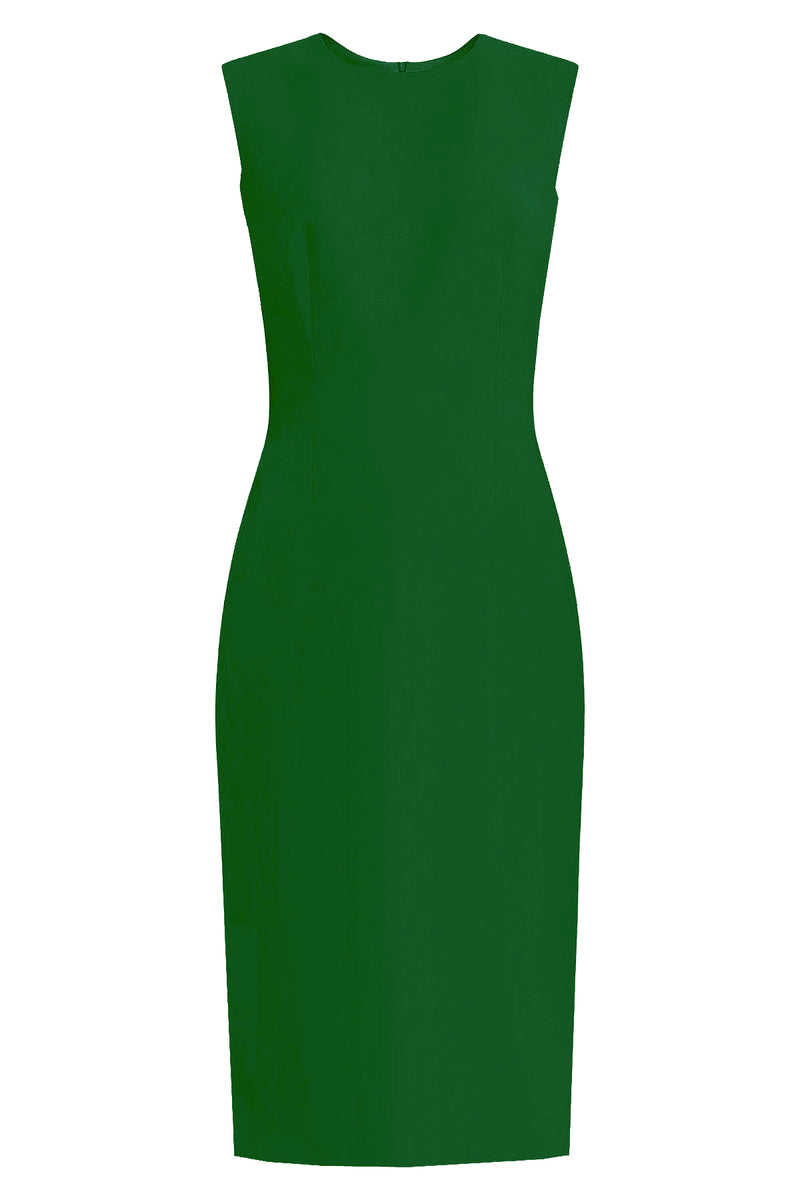 _ Green Sheath Dress - Krew