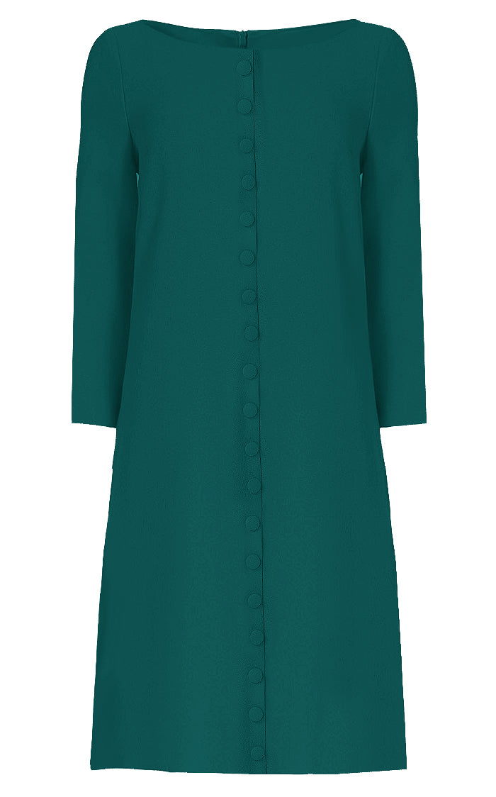 Teal Shift Dress - Meadow
