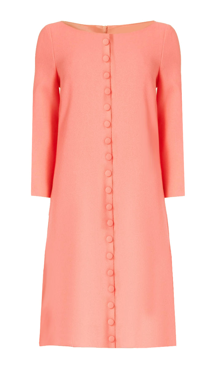 Peach Shift Dress - Meadow