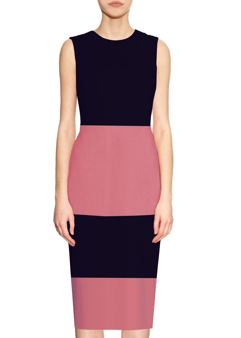 Sutton Color Block Sheath Dress
