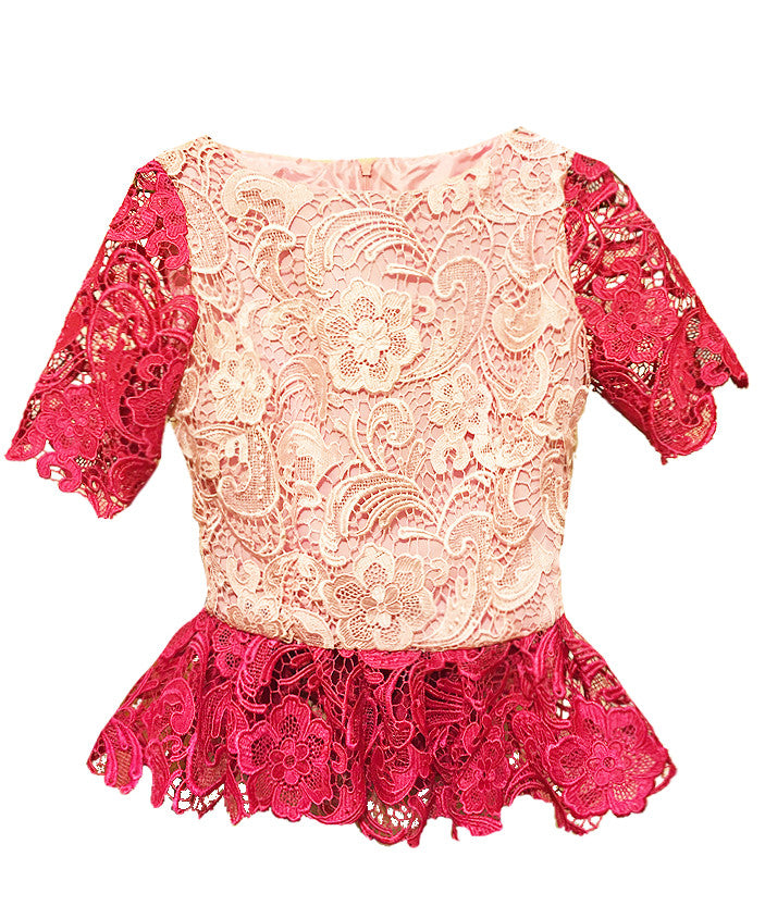 Aberdeen Lace Peplum Top