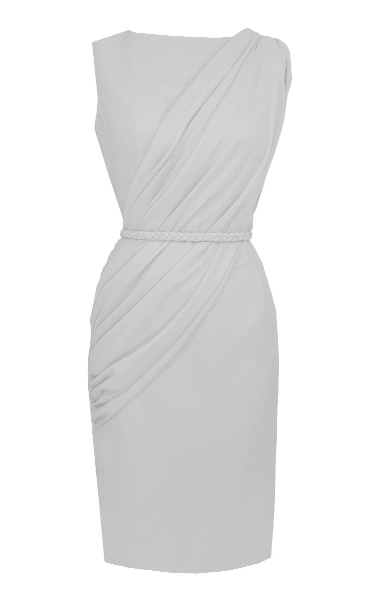White Draped Dress - Alexandra