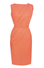 Peach Knee Length Dress - Alexandria