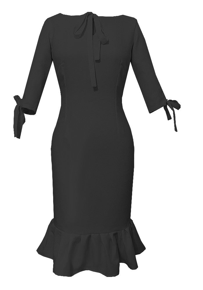 Andalusia Tie Neck Dress