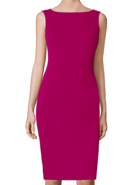 Aspen Fuchsia Basic Sheath Dress