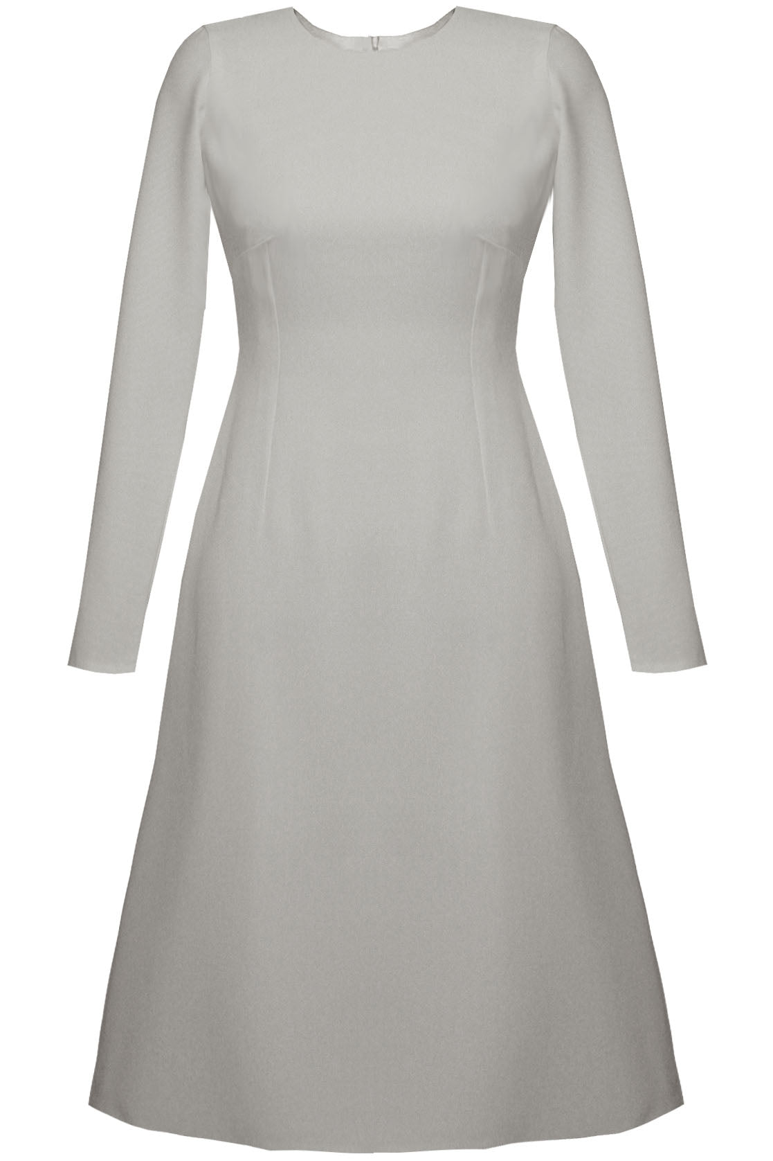 Grace Basic A-line Dress - White