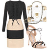 Cardiff Beige and Black Dress