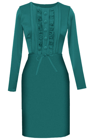 Grace Basic A-line Dress - Teal