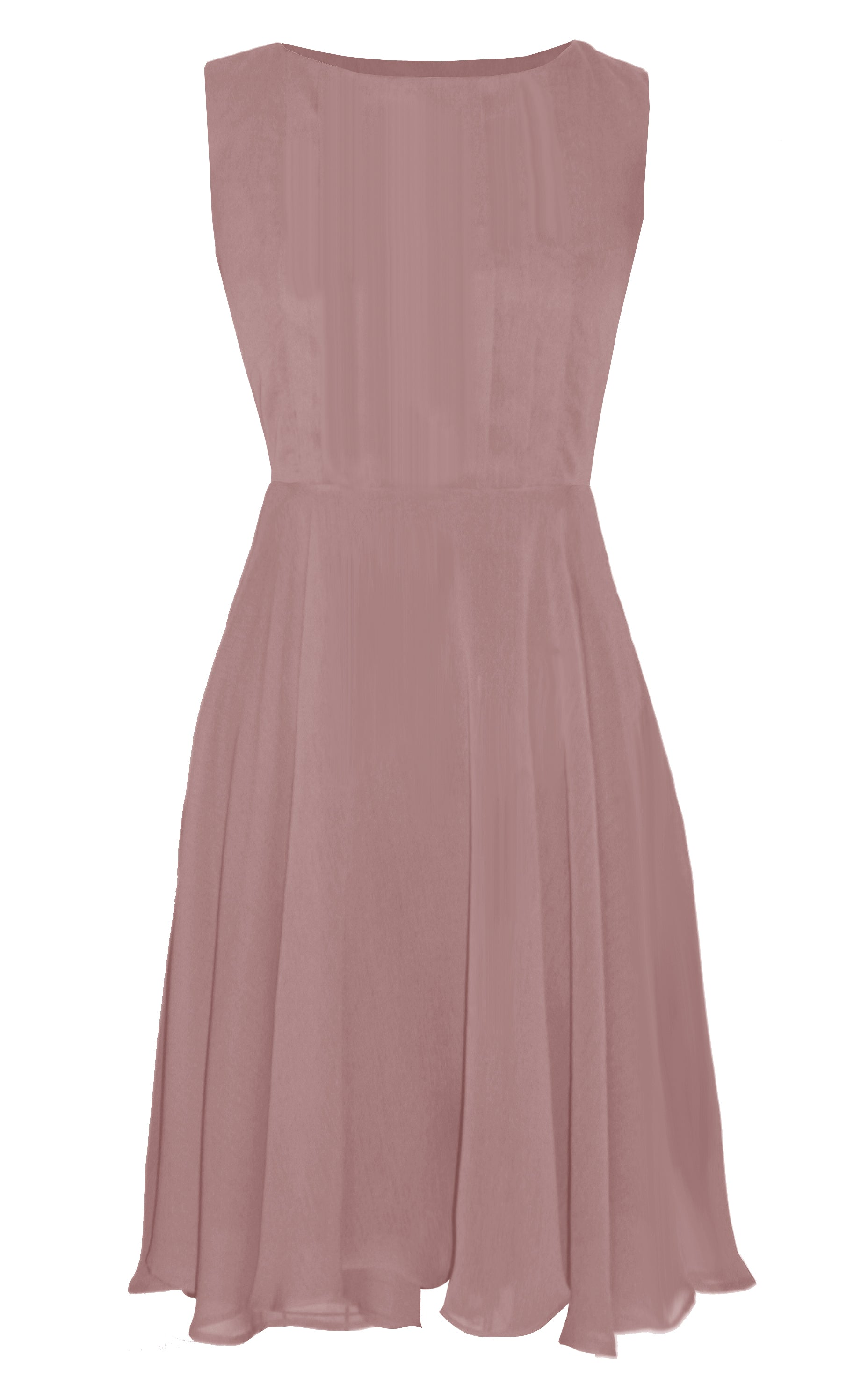 Lola Old Rose Chiffon Dress