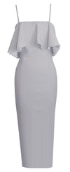 White Emmarie Midi Dress