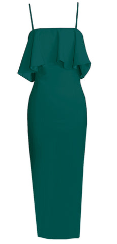 Teal Cocktail Midi Dress - Emmarie
