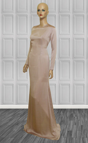 Long Sleeves Gown in Champagne - Fortress