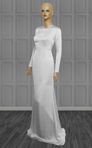 Fortress White Long Sleeves Gown