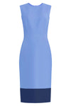Aura Blue Sheath Dress