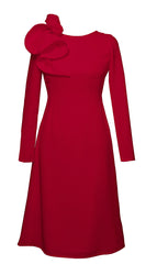 Eyry Red Long Sleeves Dress