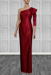Cardinal Red One Shoulder Gown