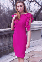 _ Dusty Pink Sheath Dress - Adelaide