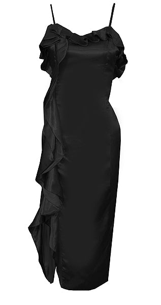 Palace Black Ruffled Midi Dress
