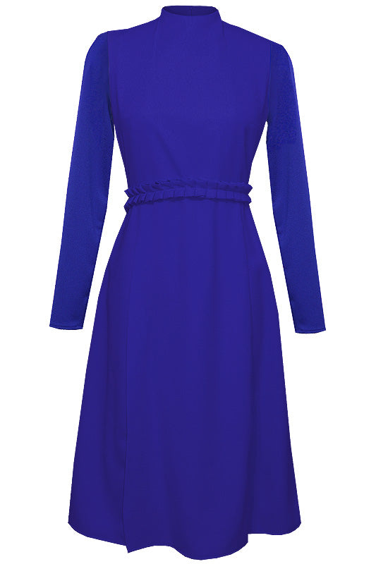 Sierra Mock Neck Midi Dress