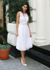 Somerset Little White Dress with beaded bodice
