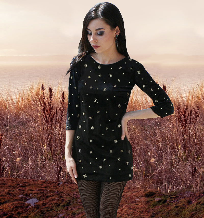 Stargazer Moon and Stars Tunic