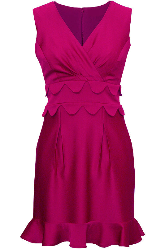 Villa Magenta V Neck dress