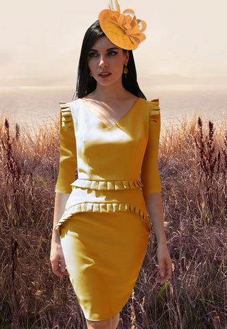 Adorla White and Gold Dress - Last Few pieces