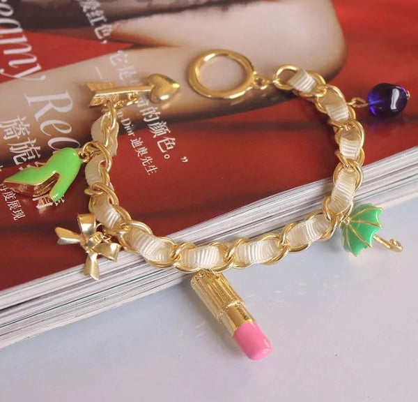 Fashion Bracelet With Charms - Classy Pink Boutique