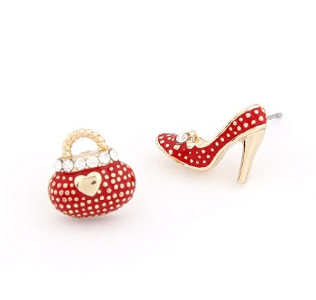 High Heel & Purse Earrings - Classy Pink Boutique