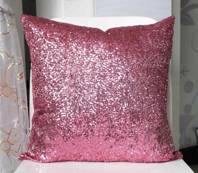 Pink Sparkly Pillow Case