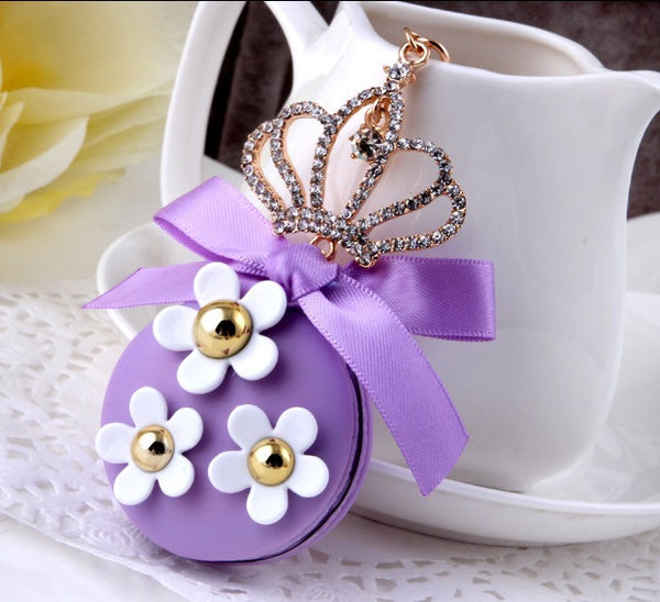 Purple Macaroon Crown Bag Charm